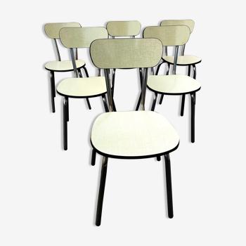 Lot de 6 chaises formica vintage