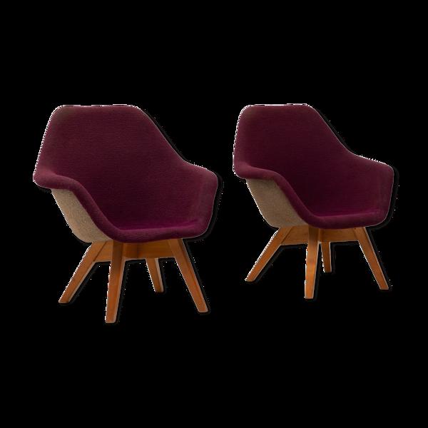 Paire de fauteuils par Miroslav Navratil années 1960