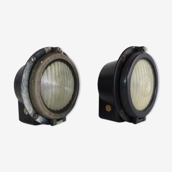 Ancienne paire de phares de locomotive headlight EMD class 66