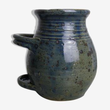 Kitchen pot in blue/green sandstone