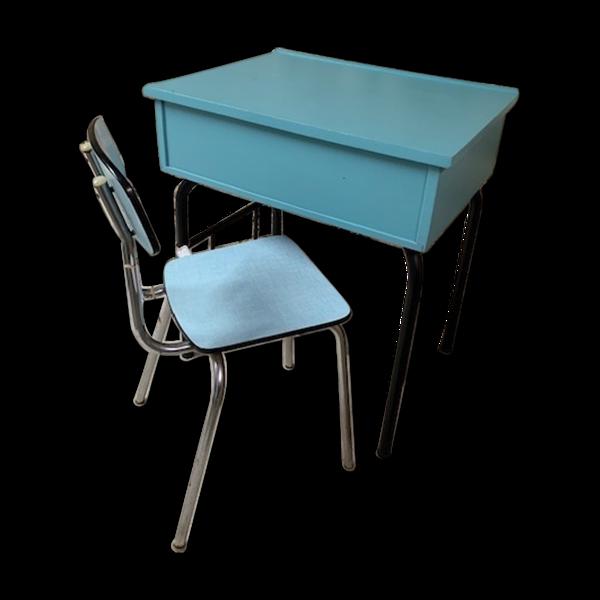 Ensemble bureau écolier et chaise en formica
