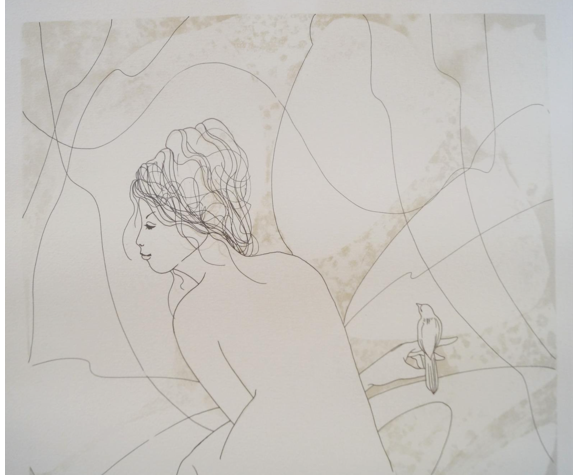 "Lithographie de J. Heine xxe   ""vénus"""