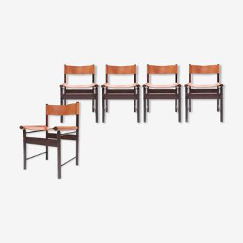 Set de 5 chaises de salon par Jorge Zalszupin pour l'atelier années 1950