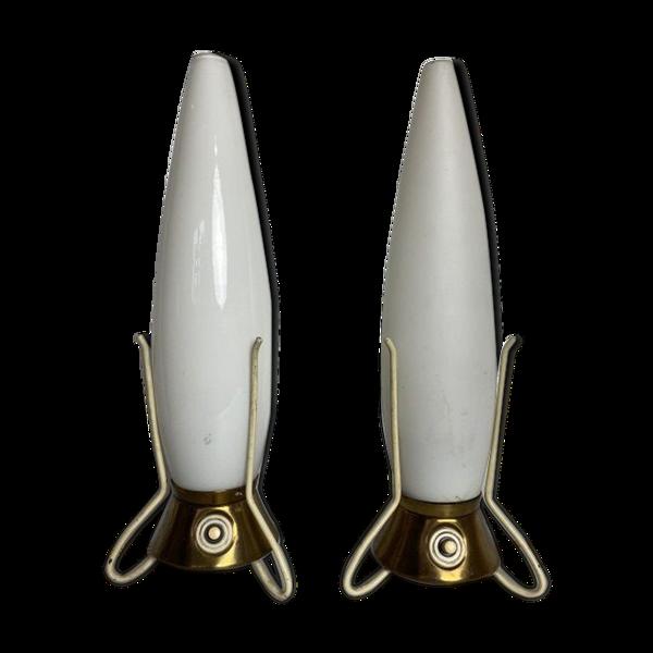 Paire de lampes de chevet vintage rocket par  Leoš Nikel