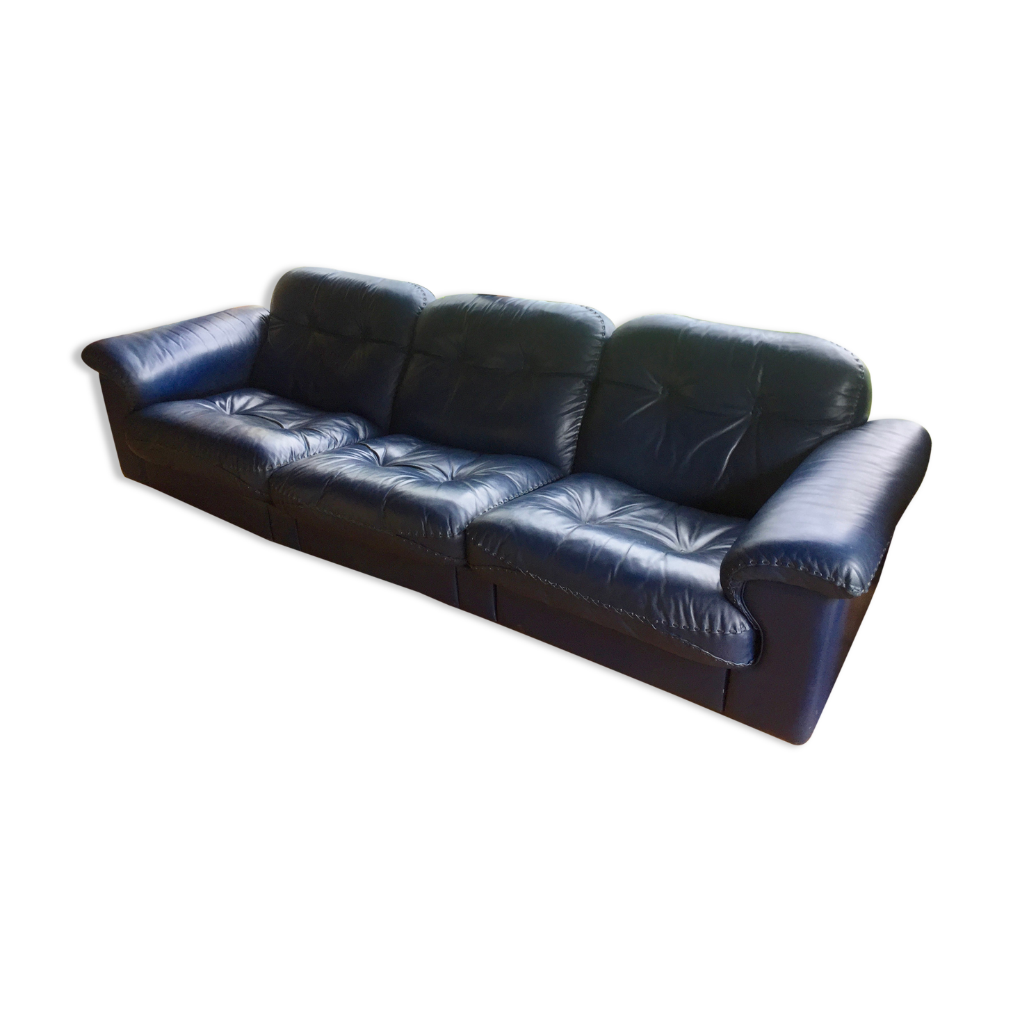 Canape de sede ds 101 cuir bleu