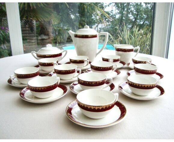 Service à café faïence Digoin Sarreguemines