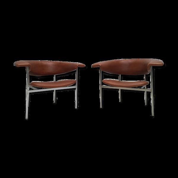 Paire de fauteuils Gamma par Rudolf Wolf pour Gaasbeek & Van Tiel 1960s