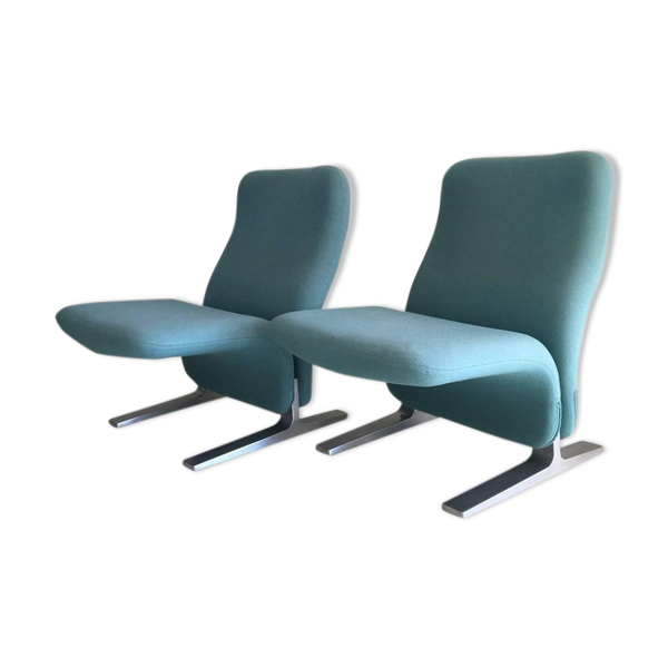 Pair of armchairs Concorde model Pierre Paulin for Artifort 1960 s