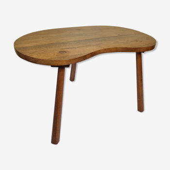 Vintage solid wood bean coffee table