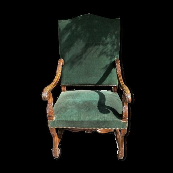 19ème c fauteuil ouvert antique