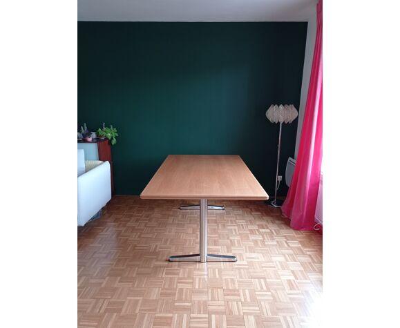 Table salle à manger en chêne massif vintage Sedus