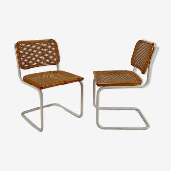 2 chaises Cesca par Marcel Breuer, italie, années 1970