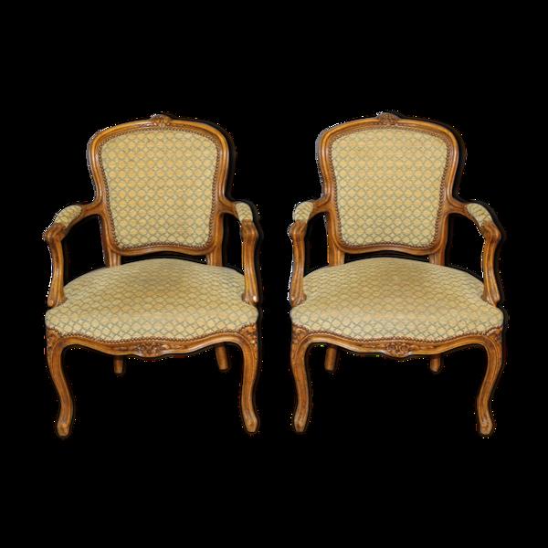 Selency Paire de cabriolets Louis XV