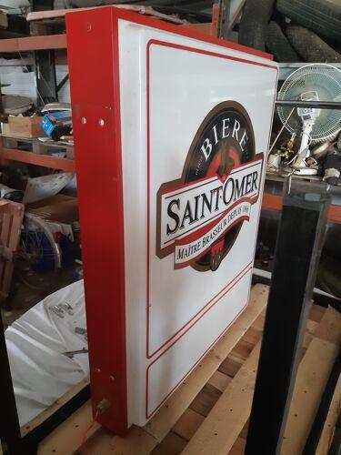 Enseigne lumineuse bière Saint-Omer