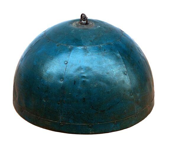 Suspension métal avec son coloris bleu-vert d'origine
