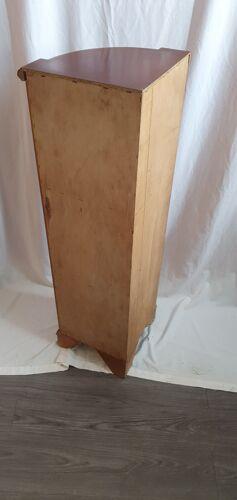 Etagère d'angle merisier de 1970