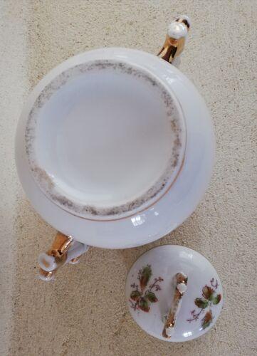 Porcelain sugar bowl handle decorated with sugar cane