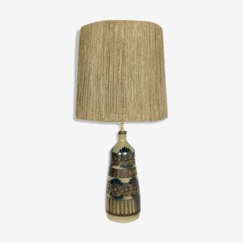 Lampe en céramique vintage JC Courjault 1970