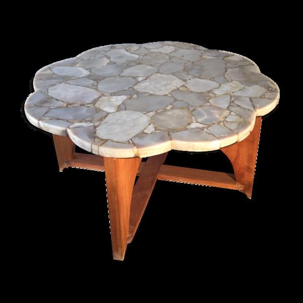 Selency Table basse en marbre et onyx