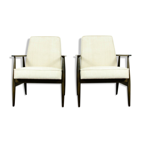 Paire de fauteuils de type 300-190 par H. Lis, années 1960