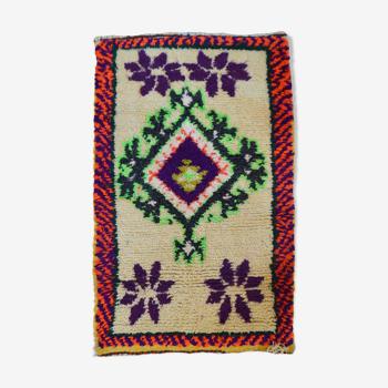 Tapis berbère violet 100 x 62 cm