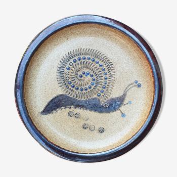 Coupelle céramique vintage décor escargot