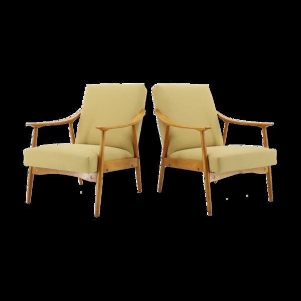 Selency Paire de fauteuils des années 60, Tchécoslovaquie