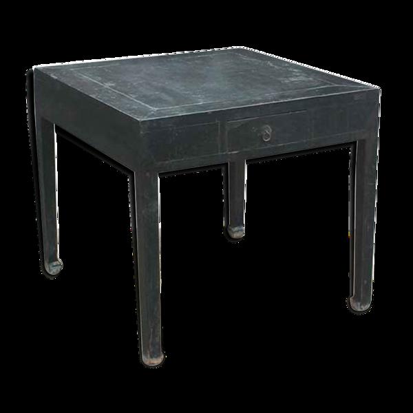 Table carrée ancienne bois laqué