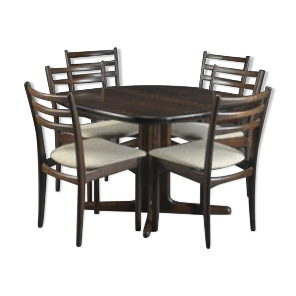 Ensemble danois de table et de chaises Skovby
