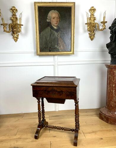 Travailleuse en acajou époque Louis Philippe