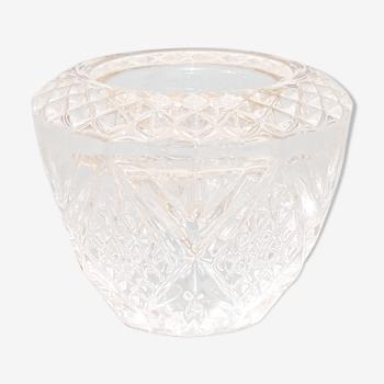 Bougeoir vintage en cristal d'Arques