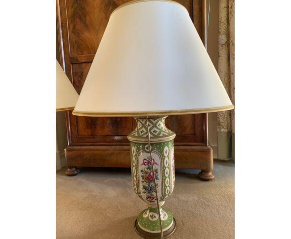 Paire de lampes en porcelaine Jules Tielès