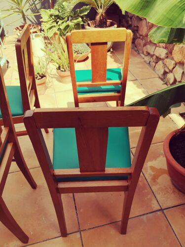 Lot de 4 chaises art déco