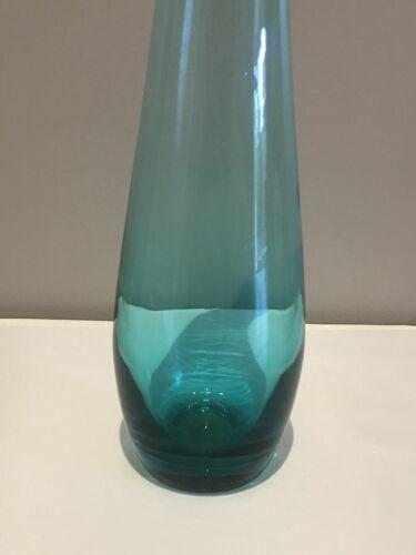 Soliflore en verre bleu
