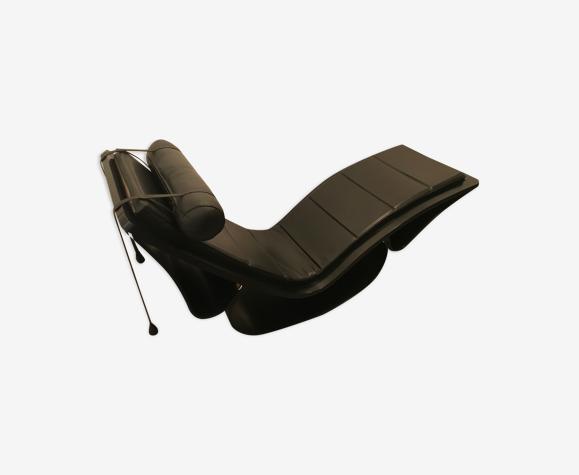 Chaise longue Rio Oscar Niemeyer en frêne et cuir