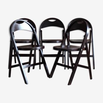 Ensemble de cinq chaises pliantes Bauhaus modèle B 751 Thonet