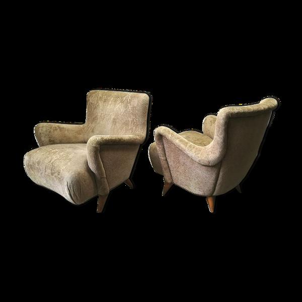 Selency Paire de fauteuils de Charles Ramos