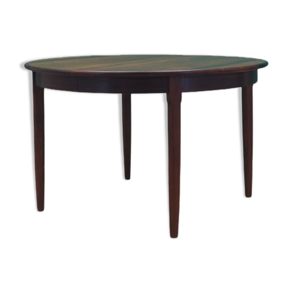 Table en palissandre, design danois, années 60, fabriquée au Danemark