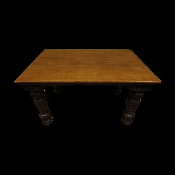 Selency Table à manger en acajou gothique