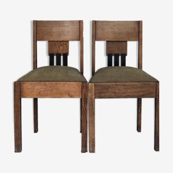 Paire de chaises art déco Amsterdam