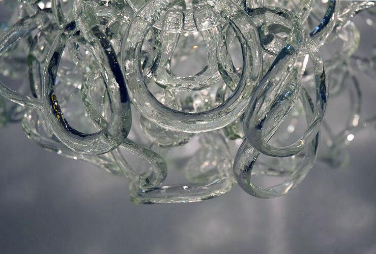 Suspension en verre 'Giogali' par Angelo Mangiarotti pour Vistosi, années 1970