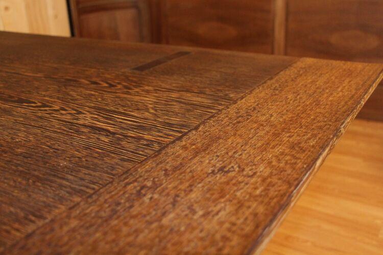 Table de salle a manger en palmier année 50