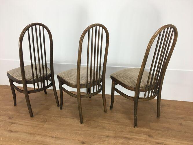 Suite de 3 chaises Baumann modèle Eden 1981