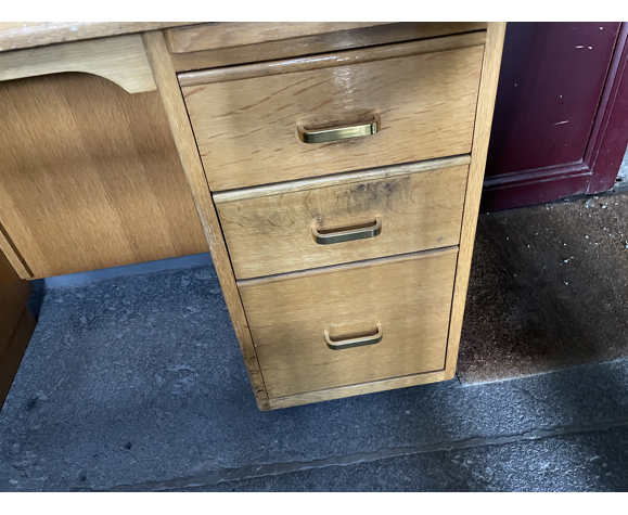 Bureau avec rallonge vintage