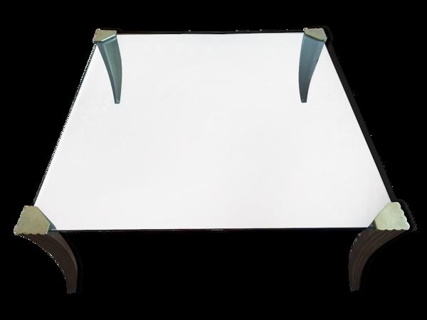 Table de salon pieds bronze