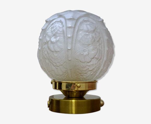 Lampe à poser globe vintage