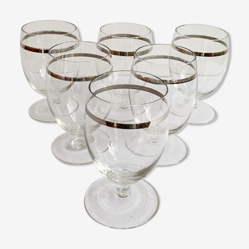 Set de 6 verres à vin cristal