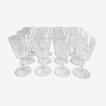 Set de 12 verres à pans coupés