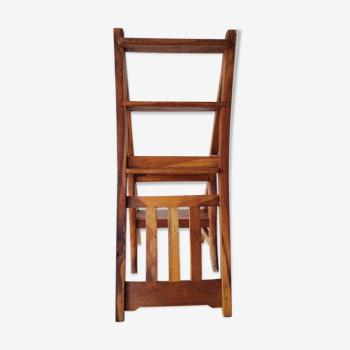 Chaise escabeau en bois