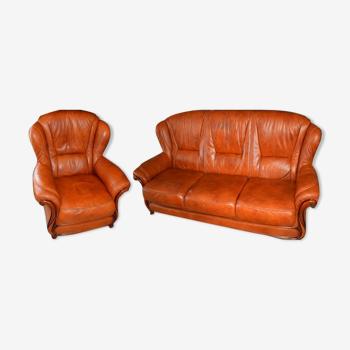 Salon canapé 3 places et son fauteuil